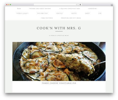 Kindred WordPress blog template - cooknwithmrsg.com