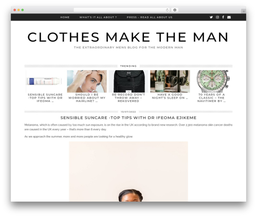 Tundra (pipdig) WordPress blog template - clothes-make-the-man.com