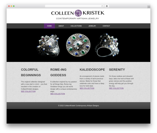 WP template Responsive - colleenkristek.com