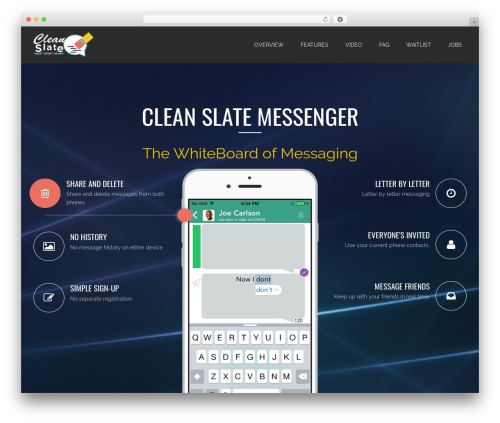 Applay WordPress theme - cleanslatemessenger.com