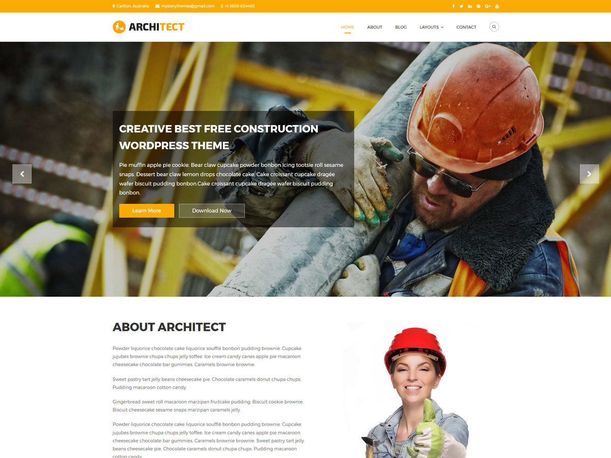 Architect Lite best WooCommerce theme