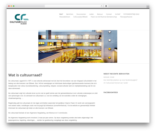 Best WordPress template Klasik - cultuurraad-dilbeek.be