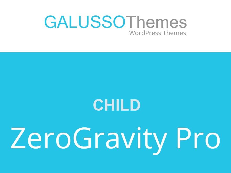 Best WordPress template ZeroGravity Pro Child