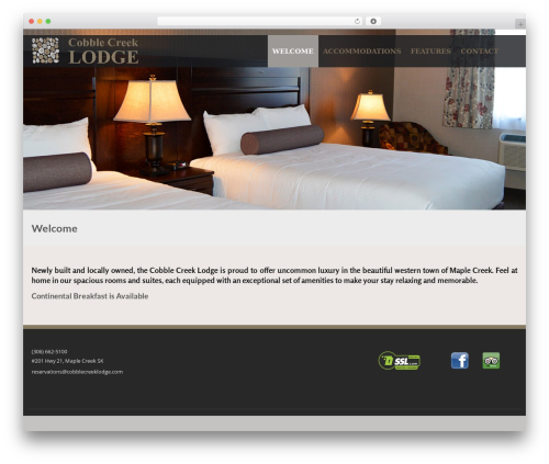 Best WordPress theme Lavish Pro - cobblecreeklodge.com