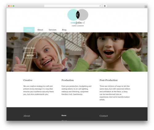 Edin free WordPress theme - conjoinedcreative.com