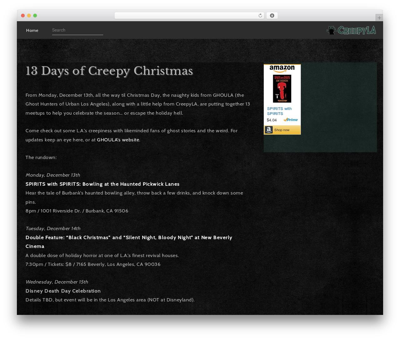 Elliot WordPress theme by Pukka Themes - creepyla com-creepy