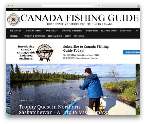 Newspaper WordPress news theme - canadafishingguide.net