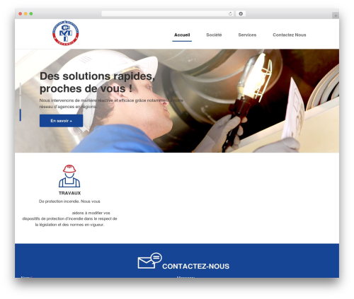 Sensica template WordPress - cmi-incendie.com