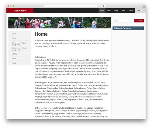 SmartAdapt theme WordPress free - cubanbirdguide.com
