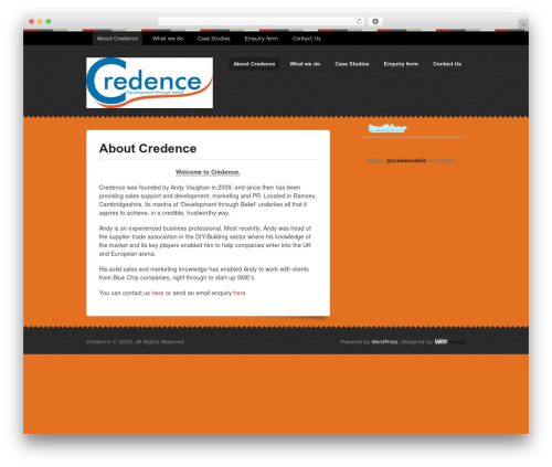 Swatch premium WordPress theme - credence.biz