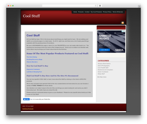 Theme WordPress Affiliate Internet Marketing theme - coolstufftobuy.co