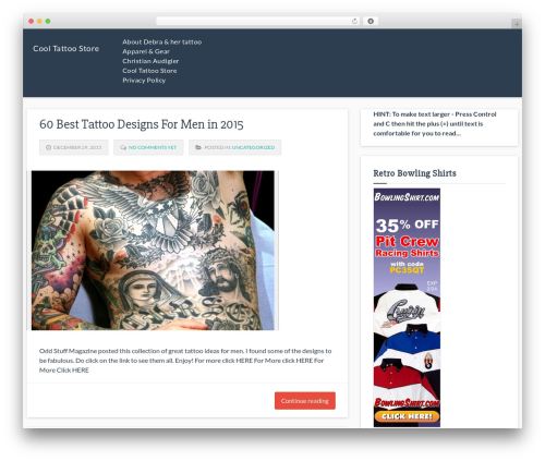 Theme WordPress Responsive Deluxe - cooltattoostore.com