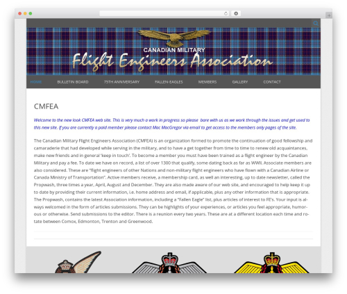 WordPress website template ZeroGravity Pro - cmfea.ca