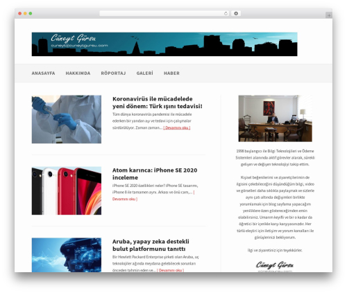 Gatsby best free WordPress theme - cuneytgursu.com