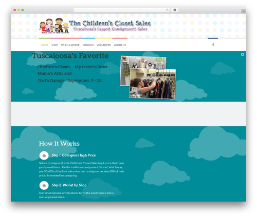 Kidslife theme WordPress - childrensclosetsale.com