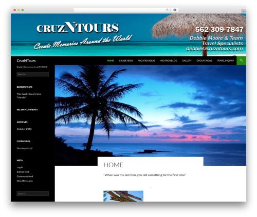 Twenty Fourteen free WP theme - cruzntours.com