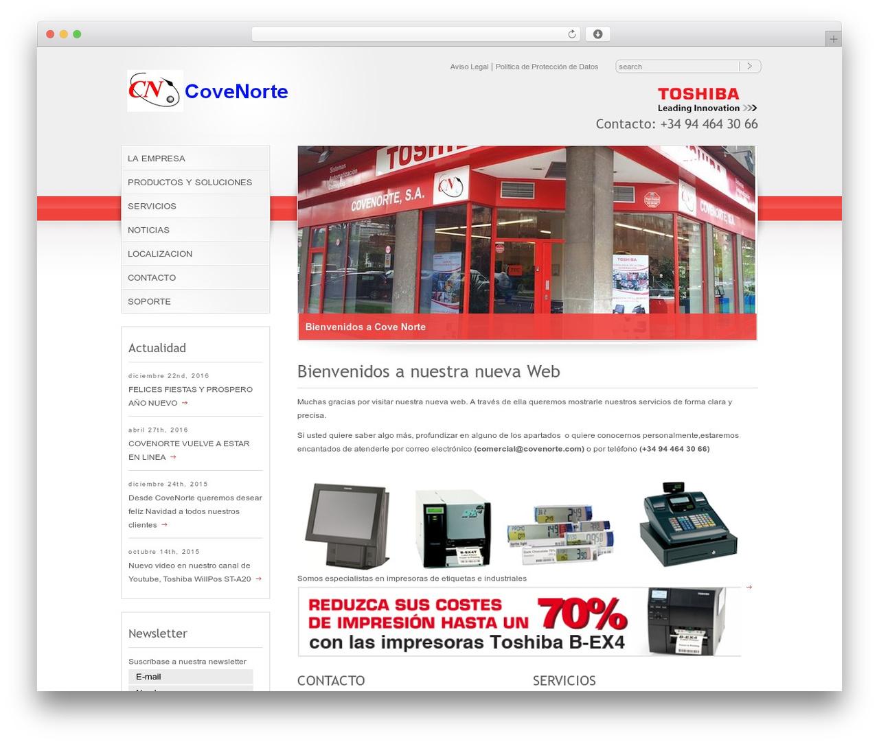 WordPress theme RT-Theme 10 - covenorte.es