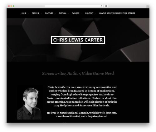 Argent WordPress template free - chrislewiscarter.com