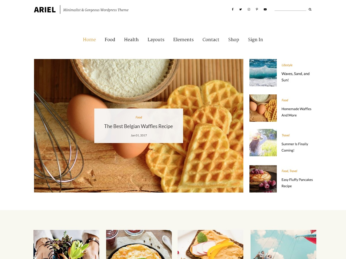 Ariel company WordPress theme