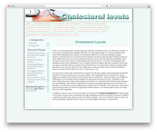 Atahualpa WordPress theme design - cholesterol-levels.org