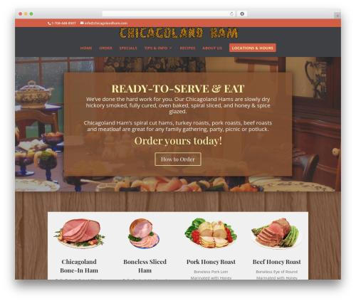 Best WordPress template Divi - chicagolandham.com