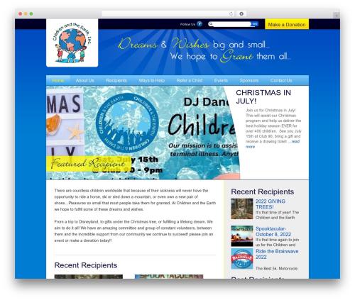 Children WordPress theme - childrenandtheearth.com