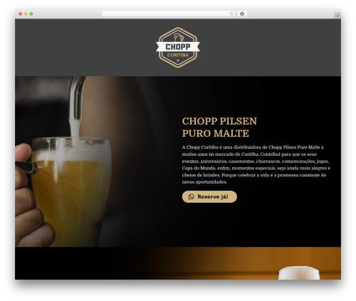 Jupiter WordPress theme design - choppcuritiba.com.br