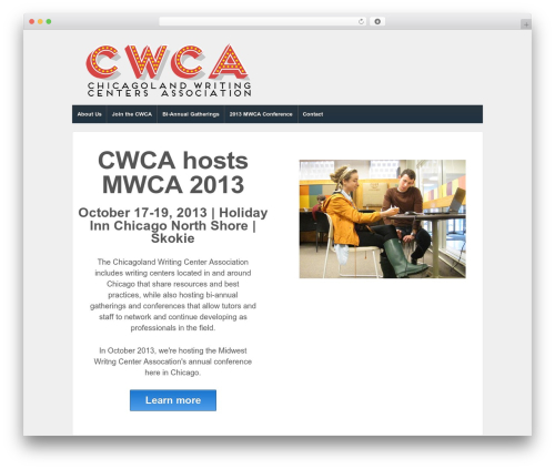 Responsive free WP theme - chicagolandwritingcenters.org
