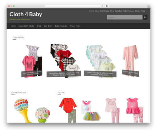 Store template WordPress free - clothforbaby.com
