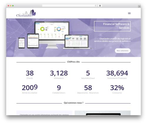 Template WordPress Salient - choriandre.fr