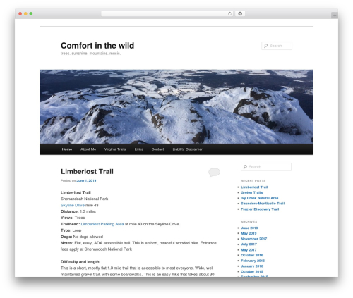 WordPress theme Twenty Eleven - comfortinthewild.com