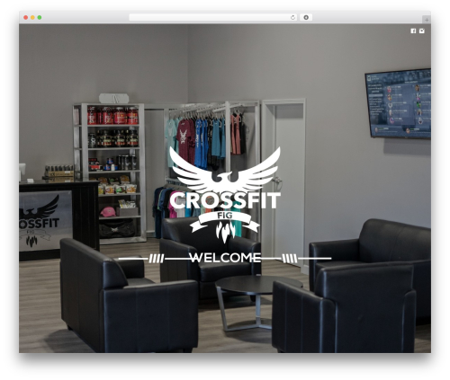 WordPress website template Athletica | Retina Parallax OnePage WP Template - crossfitfig.com