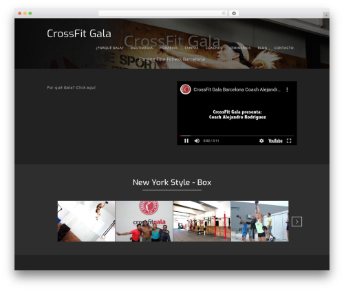 Workout WordPress theme design - crossfitgala.com