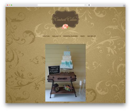 X best wedding WordPress theme - couturecakesbylia.com
