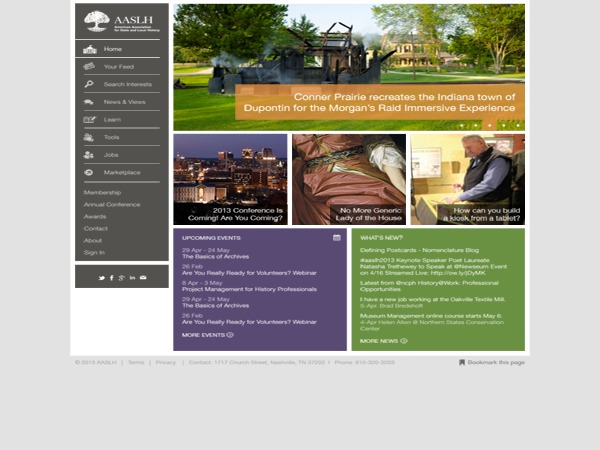AASLH.org WordPress theme