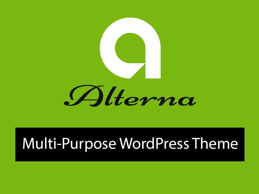 alterna9 (Share On Theme123.Net) WordPress page template