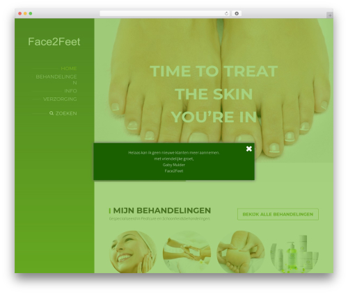 BeautySpot WordPress theme - face2feet.nl