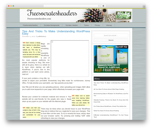 Best WordPress template Innovative Child Theme - freesocratesheaders.com