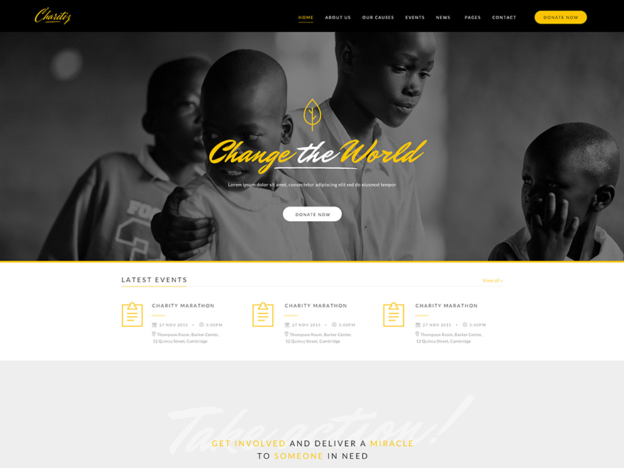 Best WordPress theme ZO Charity