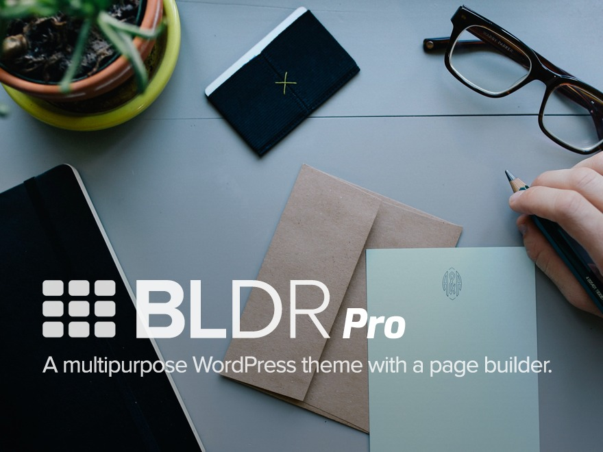 BLDR Child WordPress theme design