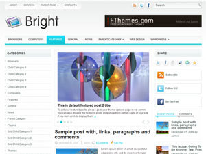 Bright WordPress template