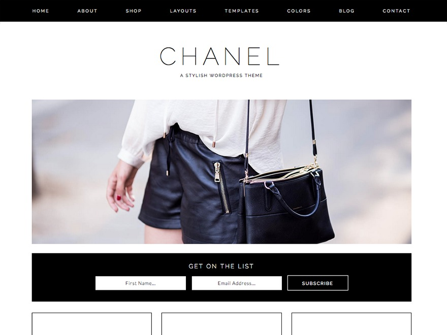 Chanel top WordPress theme
