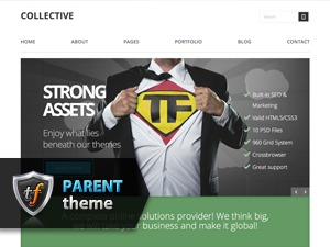 Collective Parent WordPress theme design