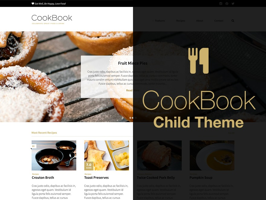 Cookbook Child Theme WordPress theme