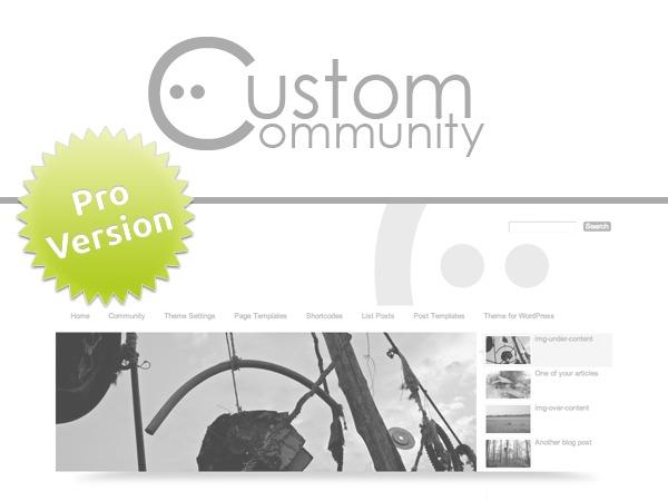 Custom Community Pro WordPress portfolio theme