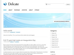 Delicate Child WordPress page template