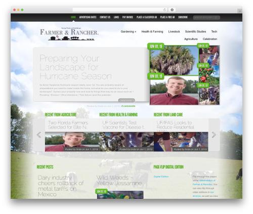Delicate News newspaper WordPress theme - farmerandrancher.com