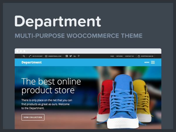 Department WordPress ecommerce template