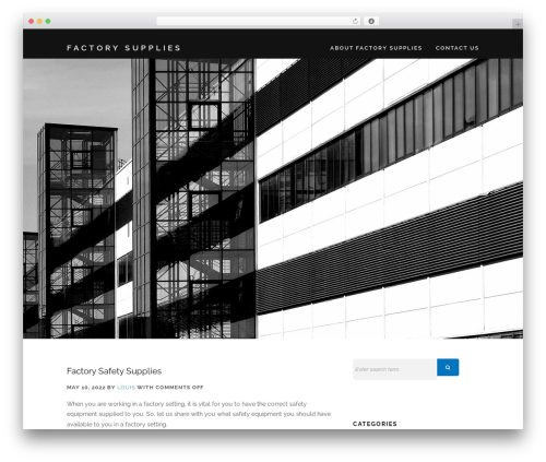Encase free WP theme - factorysupplies.co.uk