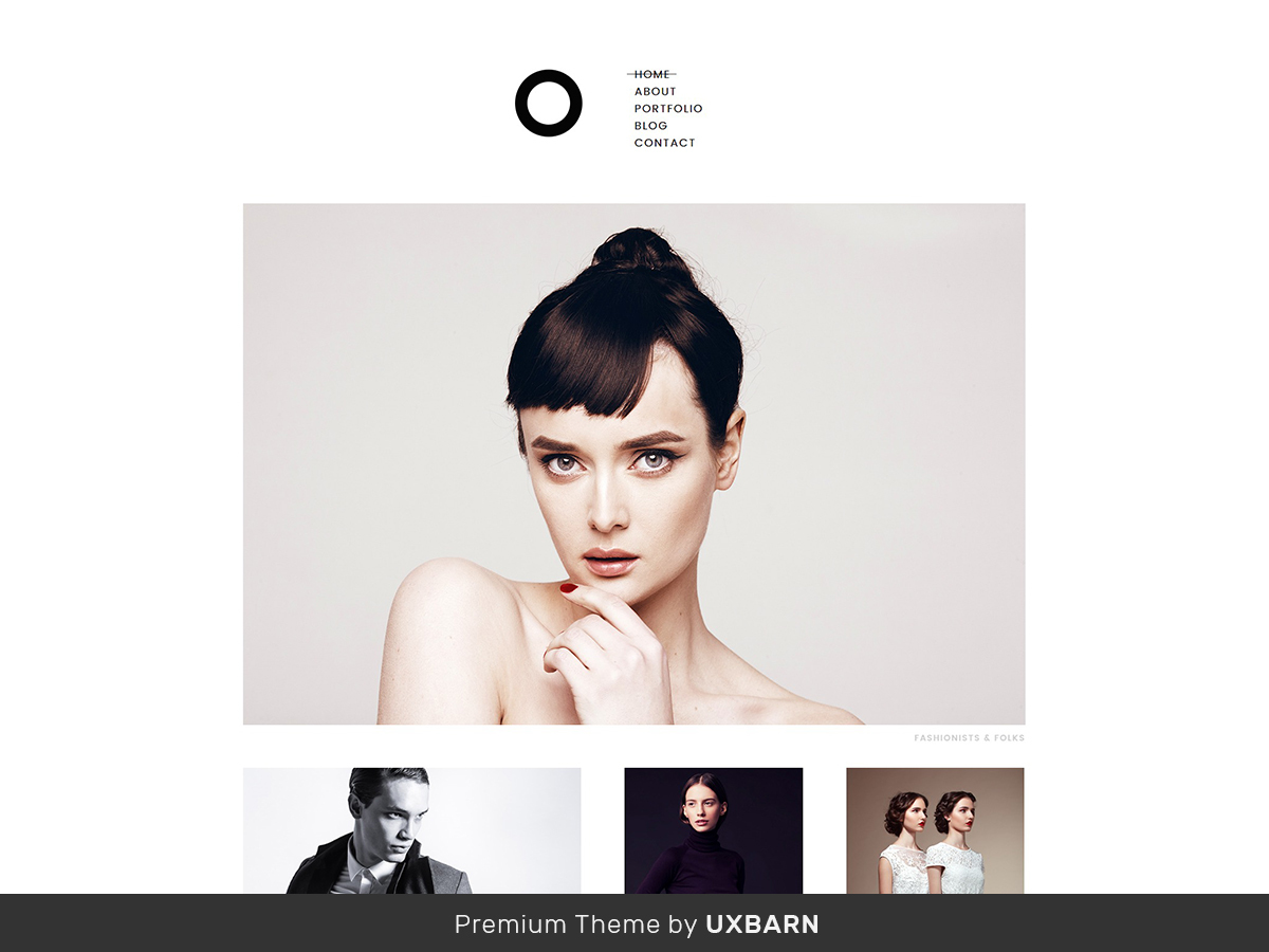 Enso theme WordPress portfolio
